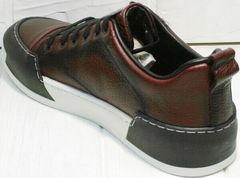 Skate shoes мужские кеды кроссовки с высокой подошвой Luciano Bellini C6401 MC Bordo.