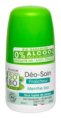 Дезодорант с мятой SO'Bio etic, 50 мл