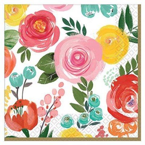 Салфетки большие Цветочный Вальс, 16 шт