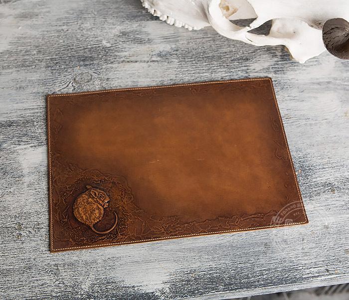 BY06-03-01 Оригинальный коврик для мыши из натуральной кожи