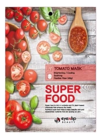 Eyenlip Маска для лица тканевая с томатом Super Food Tomato Mask, 1 шт