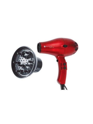 Фен Hairway Phoenix Ionic сompact, 2000 Вт, 2 насадки, красный