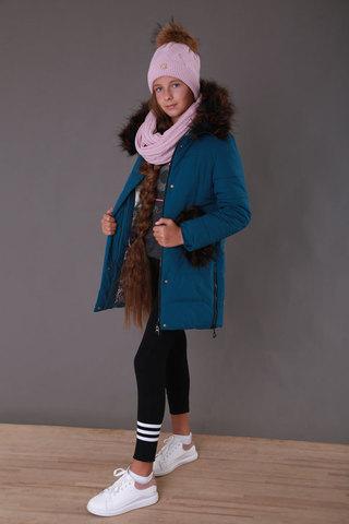 Пальто дев мех карманы Minika, 1088