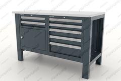 Верстак металлический с двумя тумбами, 2ящ/5ящ, серия Premium, 11.3125, Ferrum
