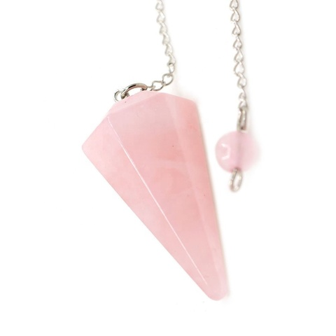 Маятник розовый кварц