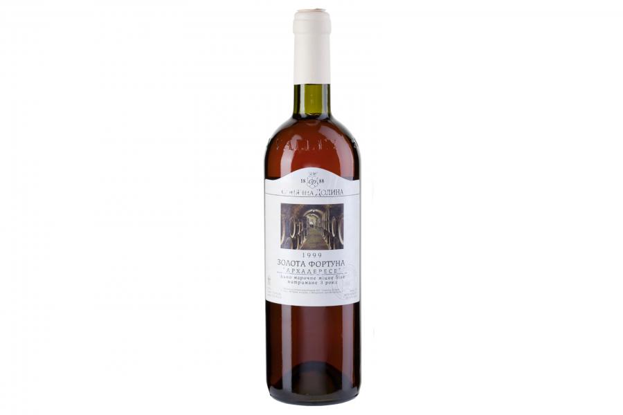 Вино Золотая Фортуна Архадерессе Солнечной Долины крепкое белое 0,75л