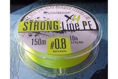 Плетеный шнур Mottomo Strong Line PE Fluo Yellow #0.6/4kg 150m