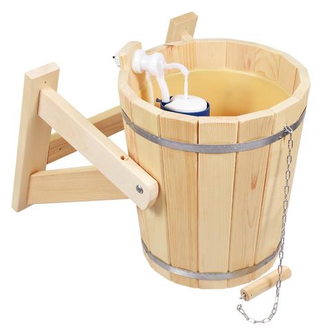 Русский душ, обливное ведро из кедра с пластиковой вставкой и клапаном 14 л