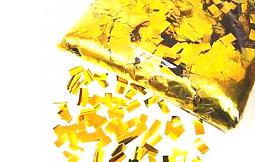 Конфетти квадратное металлизированное