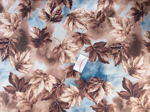 Тентовая ткань Листопад коричневый