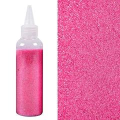 Глиттер ярко-розовый, 80 гр, в банке