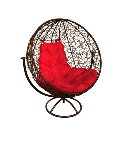 Кресло вращающееся Milagro brown/red