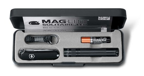 Набор Victorinox нож-брелок + светодиодный фонарь Maglite Solitaire