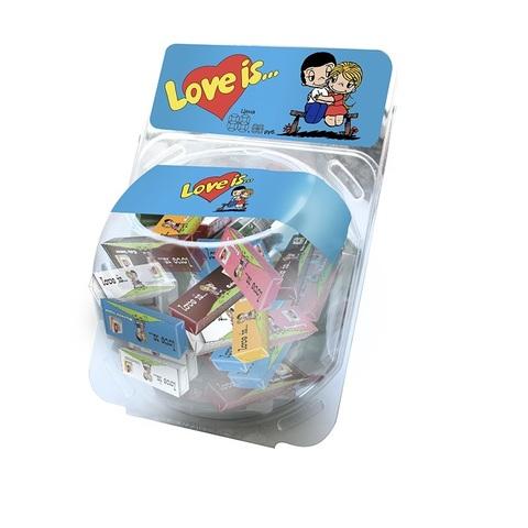 LOVE IS жевательные конфеты Ассорти в сфере 60 шт*6 бл, 25г.