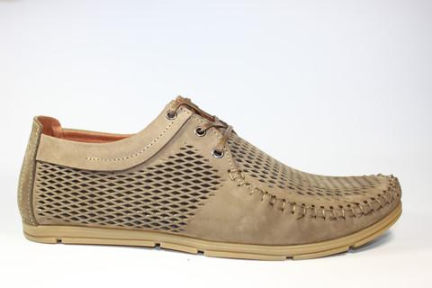 Туфли мокасины мужские летние Broni.