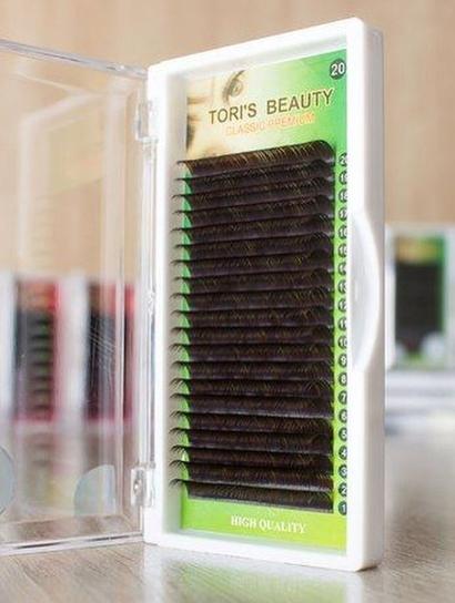 Ресницы Toris Beauty черные матовые изгиб С