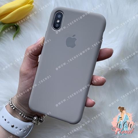 Чехол iPhone X/XS Silicone Case /pebble/ ракушка 1:1
