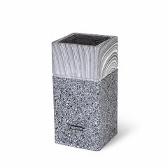 2877 FISSMAN Подставка для хранения ножей 11x11x23см, цвет ГРАФИТ (пластик)