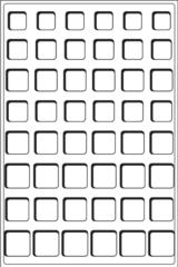 Флокированный лоток на 48 ячеек