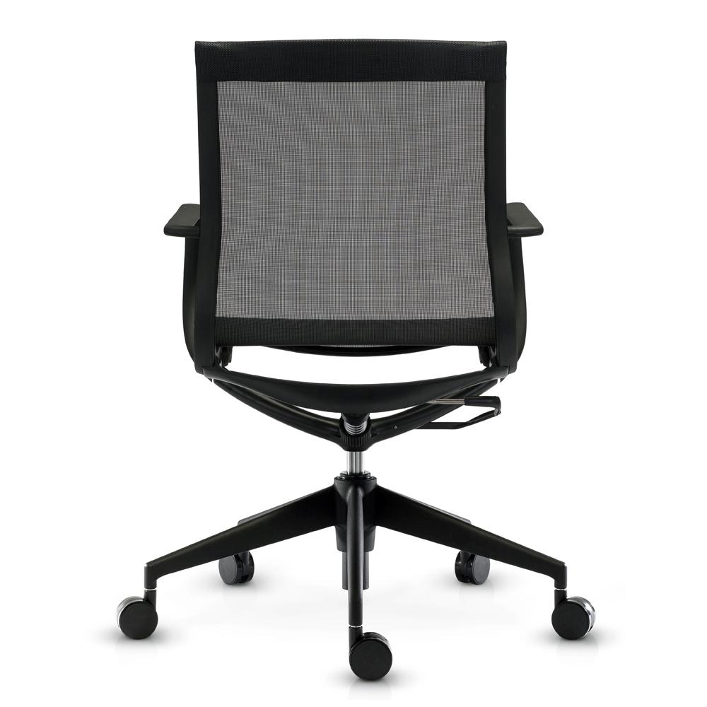 Кресло Mercury LB черная сетка, черный пластик - вид 5