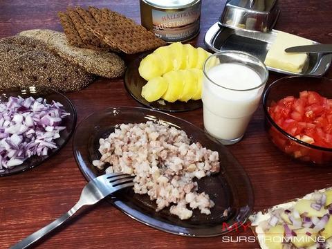 Сюрстремминг Hallstrands - вкусный ужин
