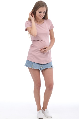 Футболка для беременных и кормящих 09962 лиловый