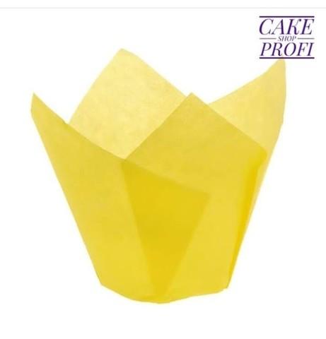 Форма бумажная Тюльпан Желтая 50х80мм (20шт)