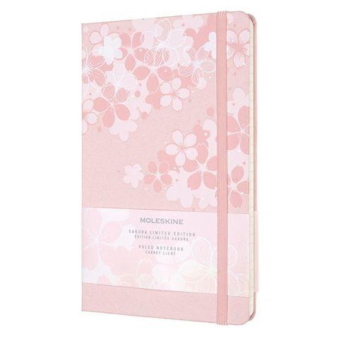 Блокнот Moleskine LE Sakura LESU03QP060 Large 130х210мм обложка текстиль 240стр. линейка темно-розовый