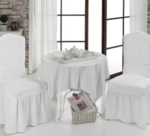 Чехлы на стулья (2 шт) цвет белый