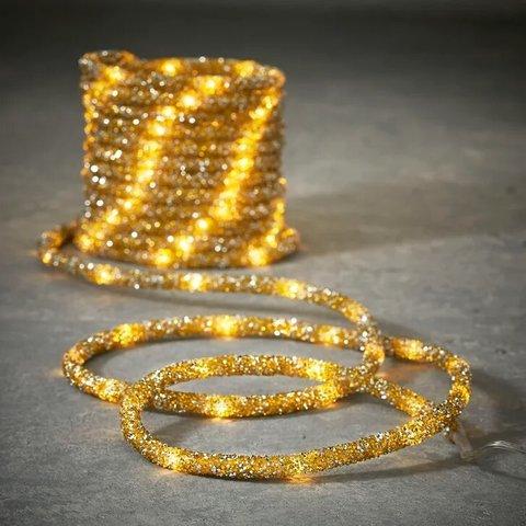 Гирлянда Дюралайт золото 8 функций, для наружного и внутреннего использования