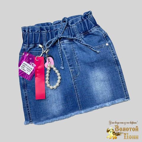 Юбка джинсовая девочке (4-9) 210312-С2-1L146