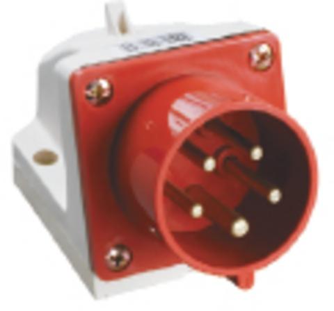 Вилка 525 стационарная 3Р+РЕ+N 32А 380В IP44 TDM