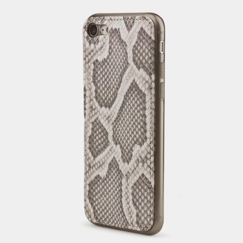 Чехол-накладка для iPhone 7 из натуральной кожи питона, цвета Natur
