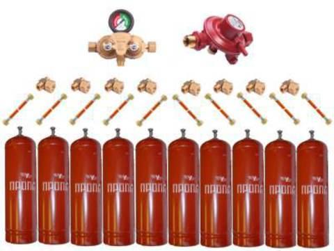 Газобаллонная система GOK (премиум) для подключения 10 металлических баллонов