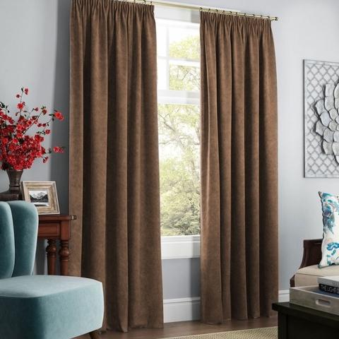 Комплект штор с подхватами Адалин коричневый