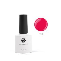 Цветной гель-лак ADRICOCO №024 земляничный (8 мл.)