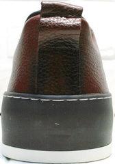 Сникерсы кроссовки мужские осенние Luciano Bellini C6401 MC Bordo.