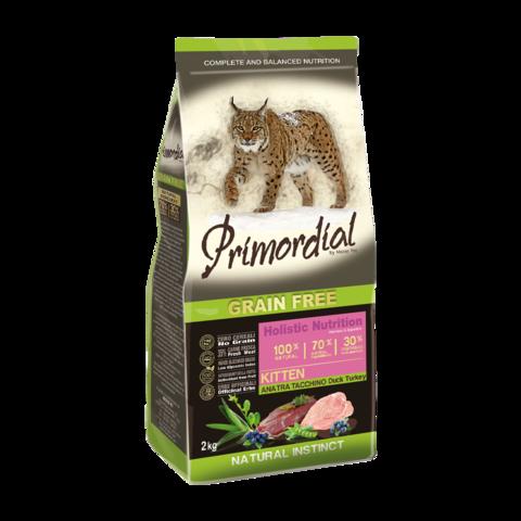 Primordial Сухой корм для котят с уткой и индейкой (беззерновой)
