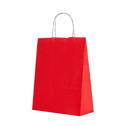 Пакет красный крафт
