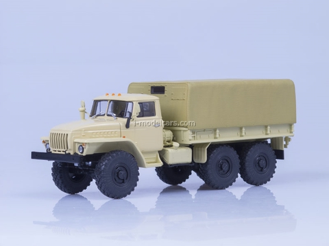 Ural-4320 board with awning beige AutoHistory 1:43