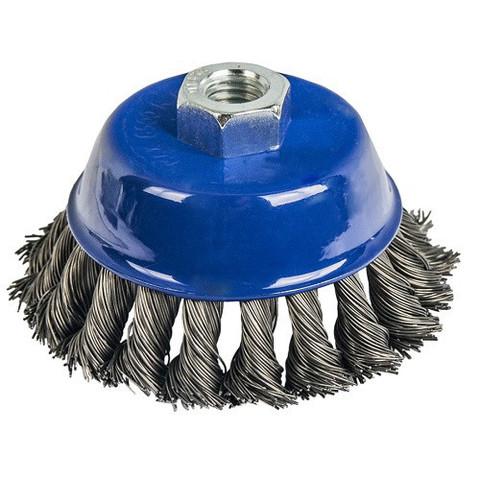 Кордщетка для МШУ чашеобразная витая ПРАКТИКА 100 мм М14 (1шт.) блистер (773-293)