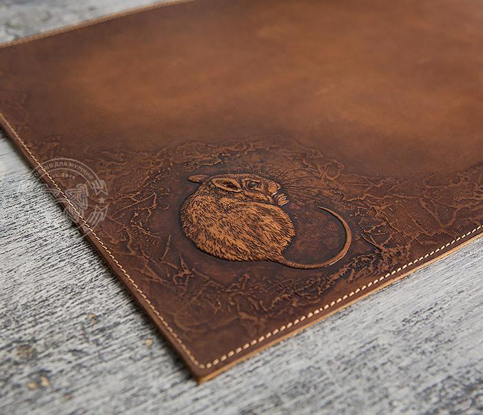BY06-03-01 Оригинальный коврик для мыши из натуральной кожи фото 04
