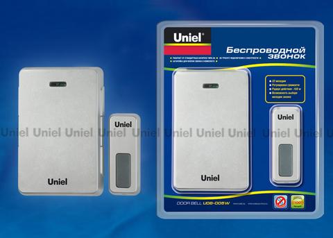 UDB-005W-R1T1-32S-100M-LS Звонок беспроводной. Блистерная упаковка. Цвет — светлое серебро