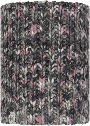 Вязаный шарф-труба с флисом детский Buff Neckwarmer Knitted Polar Lera Castlerock Grey фото 1