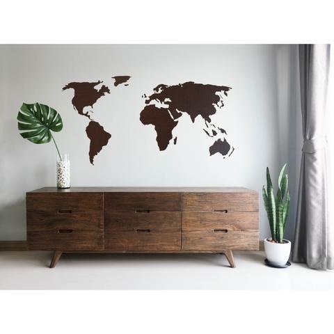 Карта мира La Contre'e 120x55 cm венге