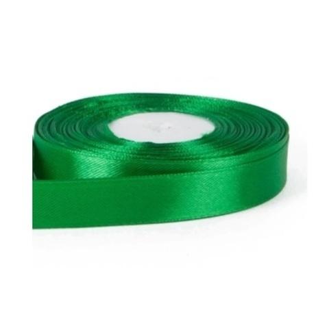 Лента атласная (размер: 15мм х 30м) Цвет:зеленая