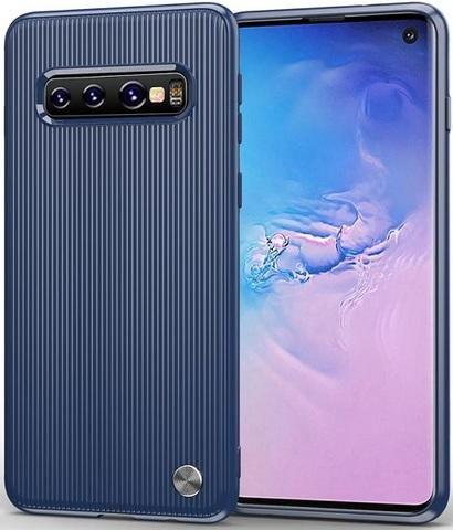 Чехол для Samsung Galaxy S 10 цвет Blue (синий), серия Bevel от Caseport