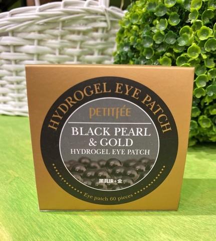 Гидрогелевые патчи для глаз с экстрактом черного жемчуга и золотом Petitfee 60шт