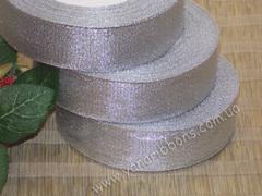 Лента парча серебряная ширина 2,5 см