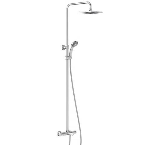 Душевая стойка с термостатом и изливом Jacob Delafon July квадратный душ
